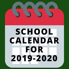 School Calendar 2019-2020;