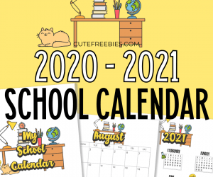 School Calendar 2020-2021;