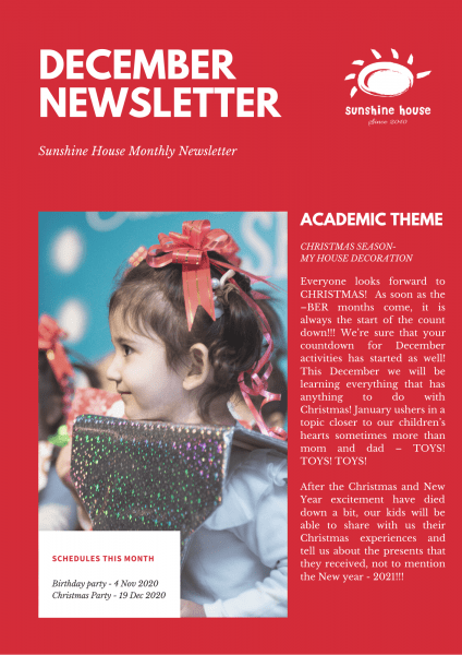 Red Photo Christmas Newsletter