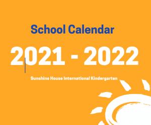 School Calendar 2021-2022;